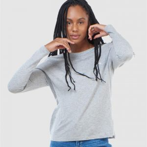 Superdry Scripted L/S Crew Top Grey Marle