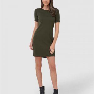 Superdry Zip Back Tshirt Dress Army Khaki