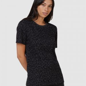 Superdry Black Out Tee Leon Leopard