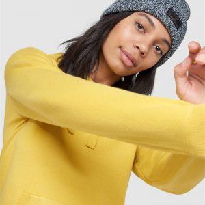 Superdry Essential Cotton Hood Sulphur Yellow