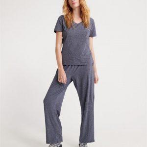Superdry Loungewear Cotton Set Navy Stripe