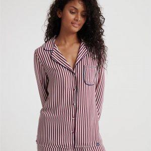 Superdry Weekender Luxe Pj Shirt Red Stripe