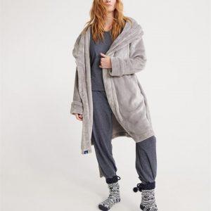 Superdry Supersoft Loungewear Robe Grey