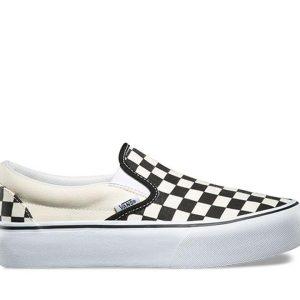 Vans Vans Classic Slip-On Checkerboard Platform Black & White