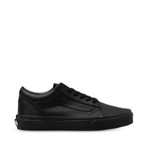 Vans Vans Kids Old Skool Black Leather (Leather) Black Mono