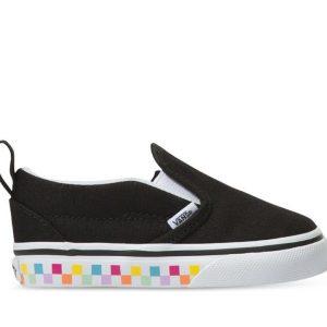 Vans Vans Toddler Slip-On Checkerboard Rainbow Rainbow & Black