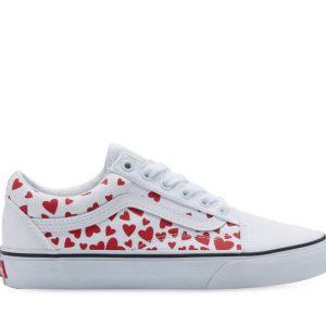 Vans Vans Old Skool Valentines Hearts True White & Racing Red