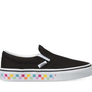 Vans Vans Kids Classic Slip-On Checkerboard Rainbow & Black