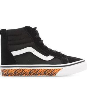 Vans Vans Kids Sk8-Hi Zip Animal Sidewall Tiger & Black