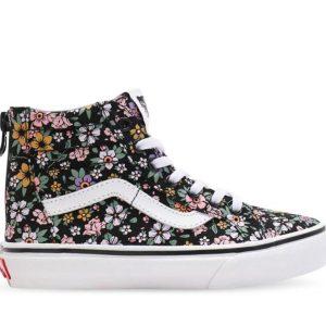 Vans Vans Kids Sk8-Hi Zip Fun Floral Black & True White