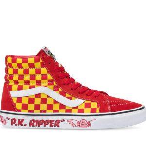 Vans Vans SE Bikes Sk8-Hi Reissue Pk Ripper & Red & Yellow & Reflective Check