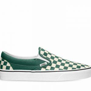 Vans Vans CLASSIC SLIP-ON CHECKERBOARD Bistro Green & True White