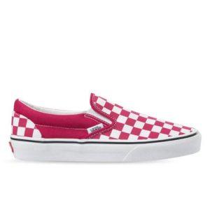 Vans Vans Checkerboard Classic Slip-On Cerise & True White