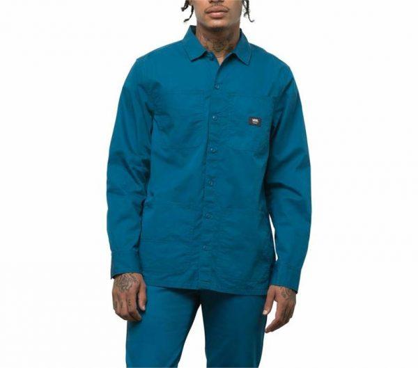 Vans Vans Bayview Short Sleeve Buttondown Shirt Moroccan Blue