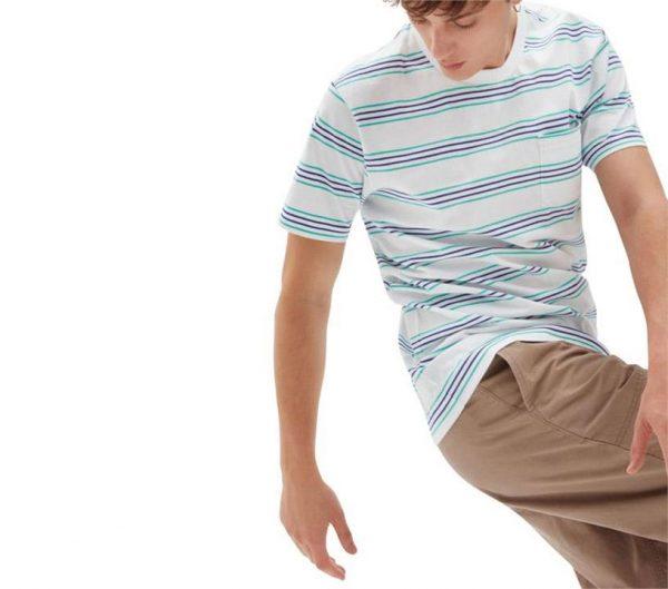 Vans Vans Chaparral Stripe T-Shirt White