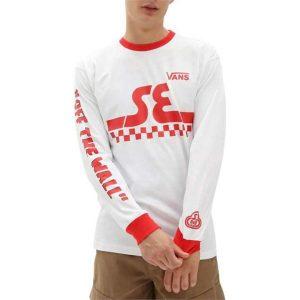 Vans Vans Vans X SE Bikes Long Sleeve White-High Risk Red