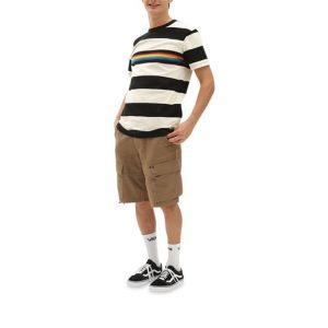 Vans Vans Vans Pride Rugby Stripe T-Shirt Antique White-Black