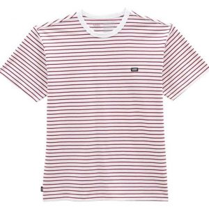 Vans Vans Off The Wall Stripe T-Shirt White-Rhododendron