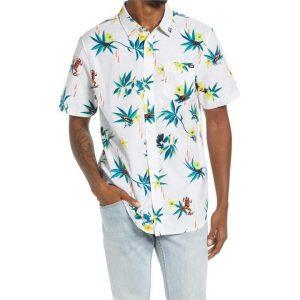 Vans Vans Dart Floral Short Sleeve Shirt White-Dart Floral