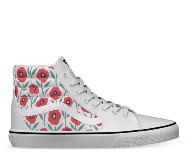 Vans Vans Sk8-Hi Flowers (Flowers) True White