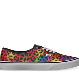 Vans Vans Authentic Rainbow Spot Leopard (Rainbow Spot Leopard) Black & True White