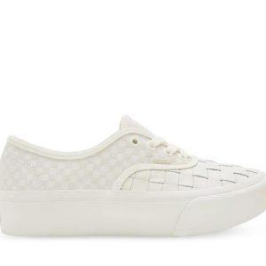 Vans Vans Authentic Platform Woven 2.0 Leather & Blanc De Blanc
