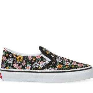 Vans Vans Kids Classic Slip-On Fun Floral Black & True White